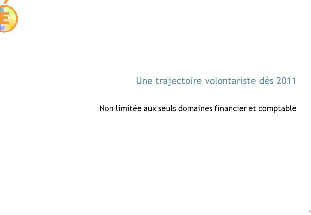 7 Une trajectoire volontariste dès 2011 Non limitée aux seuls domaines financier et comptable