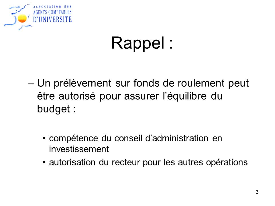 14 Questions : Le fonds de roulement est il linstrument pertinent pour déterminer la situation financière de létablissement .