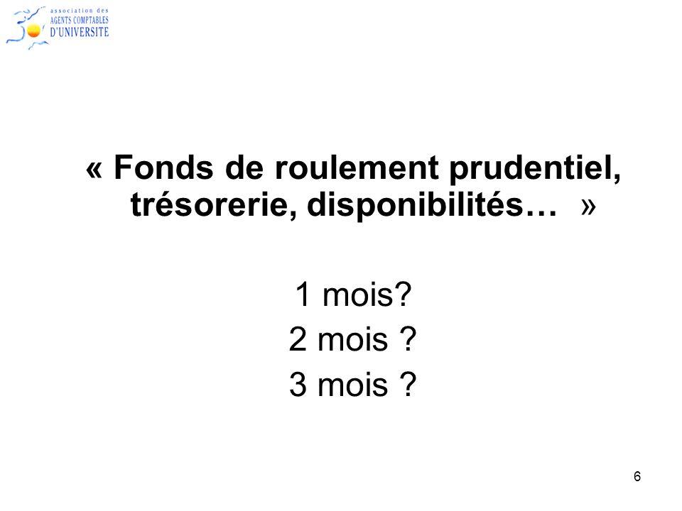 7 Lexemple de luniversité Paris 99.En 2010 : –Fonds de roulement = 15 000 K.