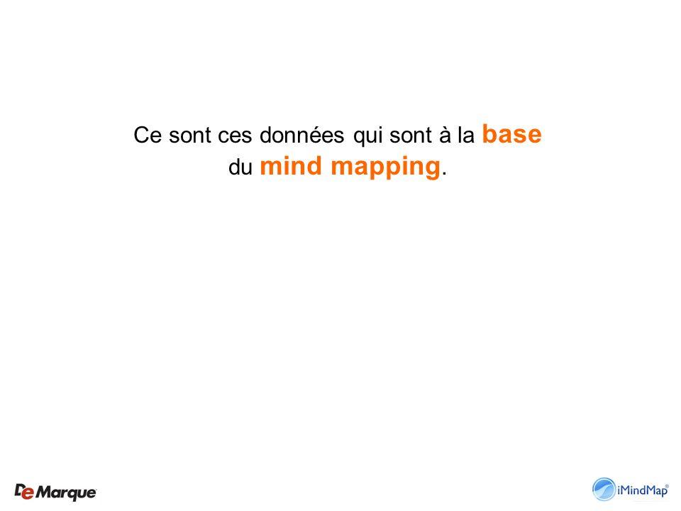 Ce sont ces données qui sont à la base du mind mapping.