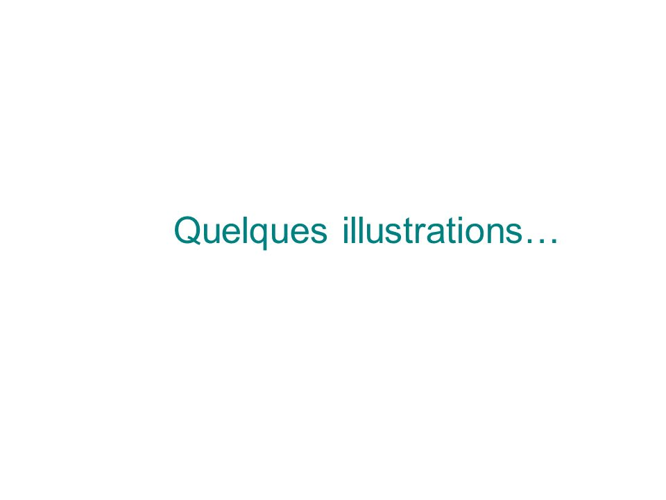 Quelques illustrations…