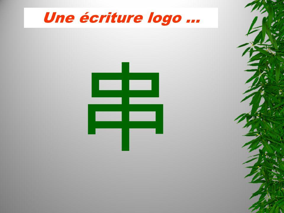 Une écriture logo …