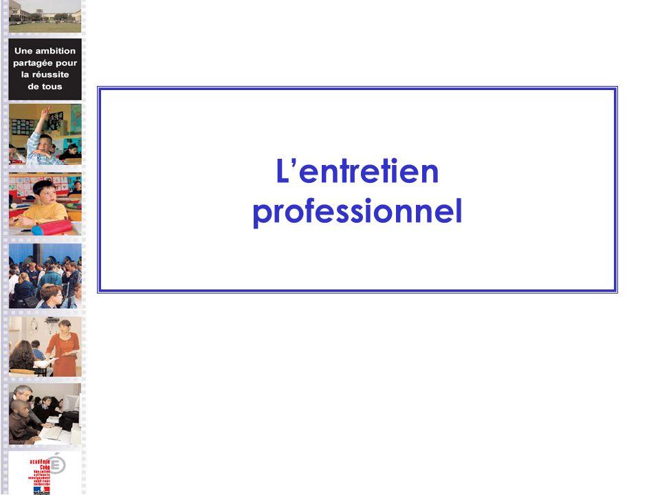 Lentretien professionnel