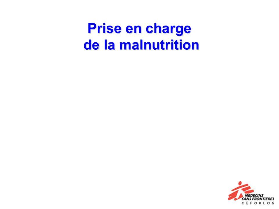 Prise en charge de la malnutrition