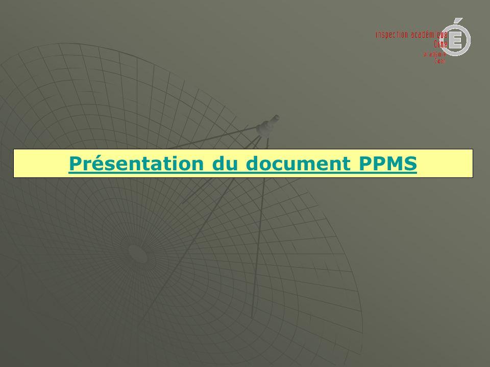 Présentation du document PPMS