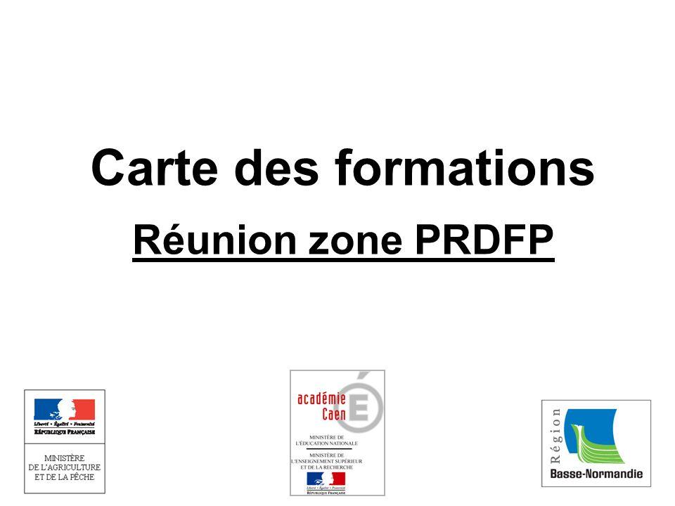 Carte des formations Réunion zone PRDFP