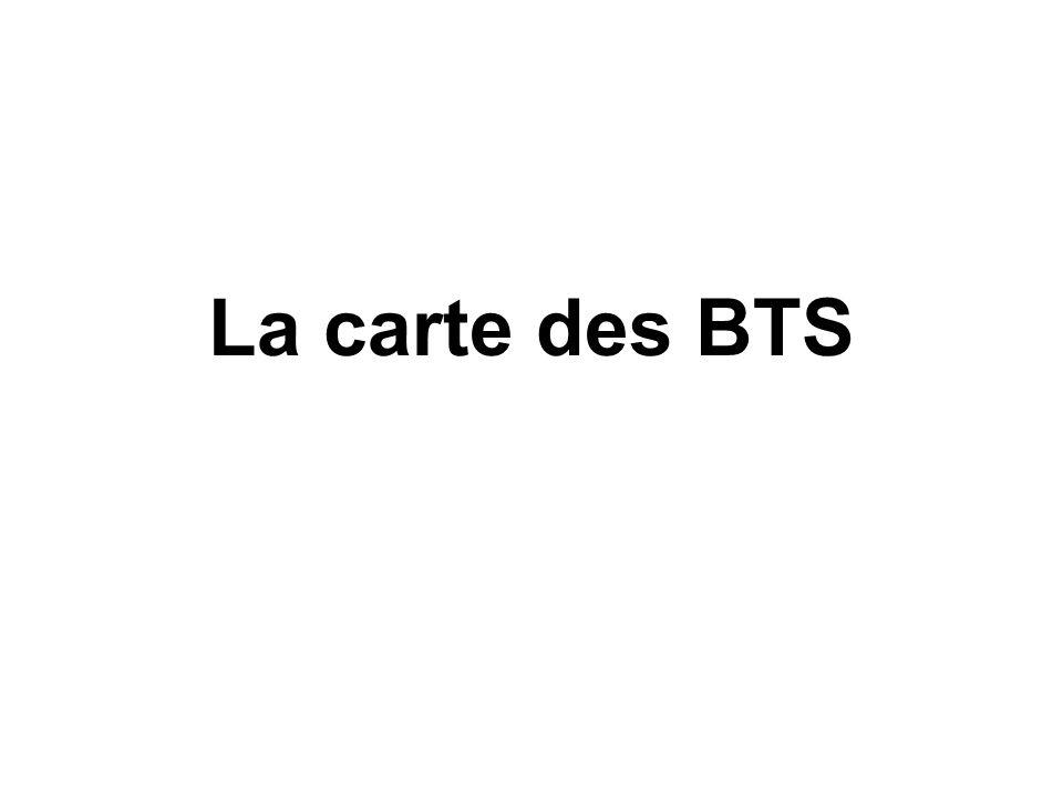 La carte des BTS