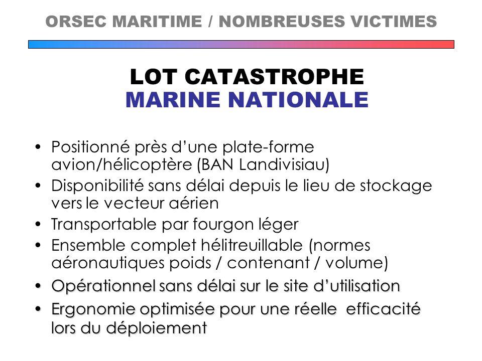 LOT CATASTROPHE MARINE NATIONALE Positionné près dune plate-forme avion/hélicoptère (BAN Landivisiau) Disponibilité sans délai depuis le lieu de stock