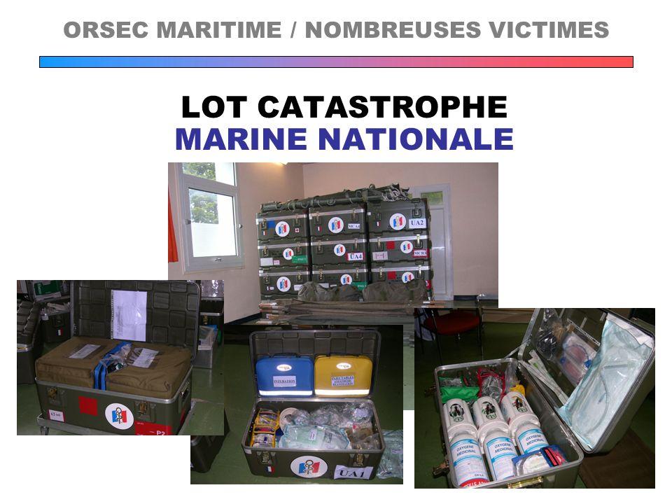 LOT CATASTROPHE MARINE NATIONALE ORSEC MARITIME / NOMBREUSES VICTIMES