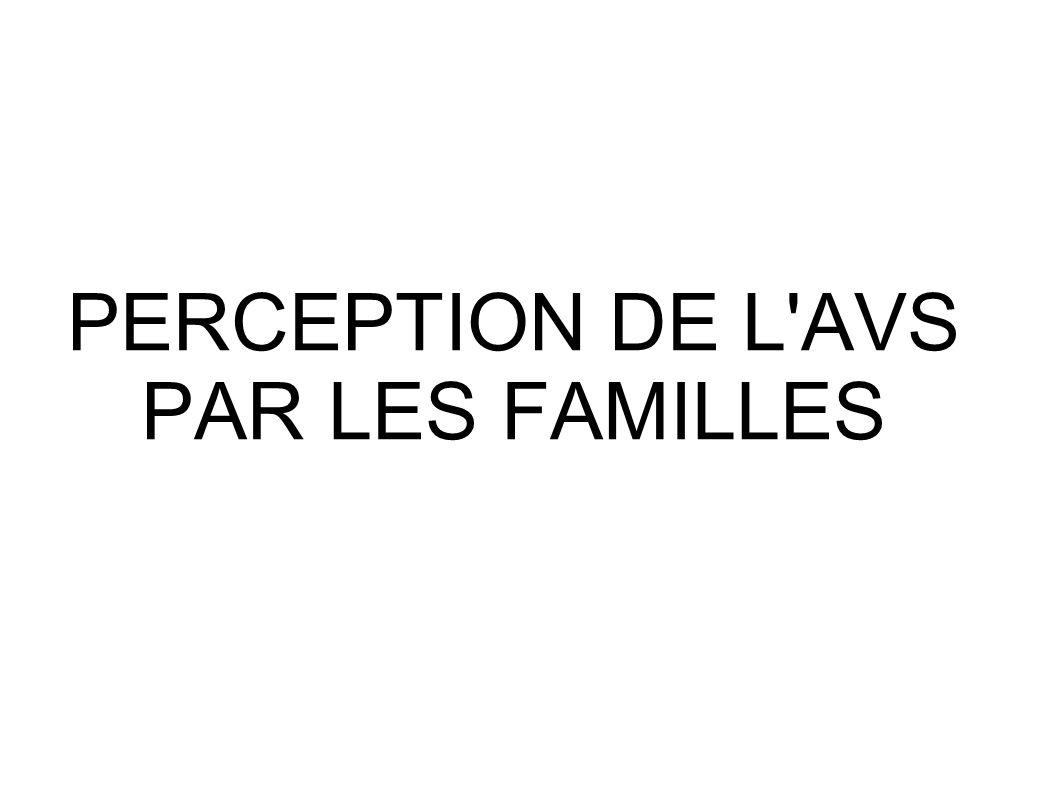PERCEPTION DE L AVS PAR LES FAMILLES