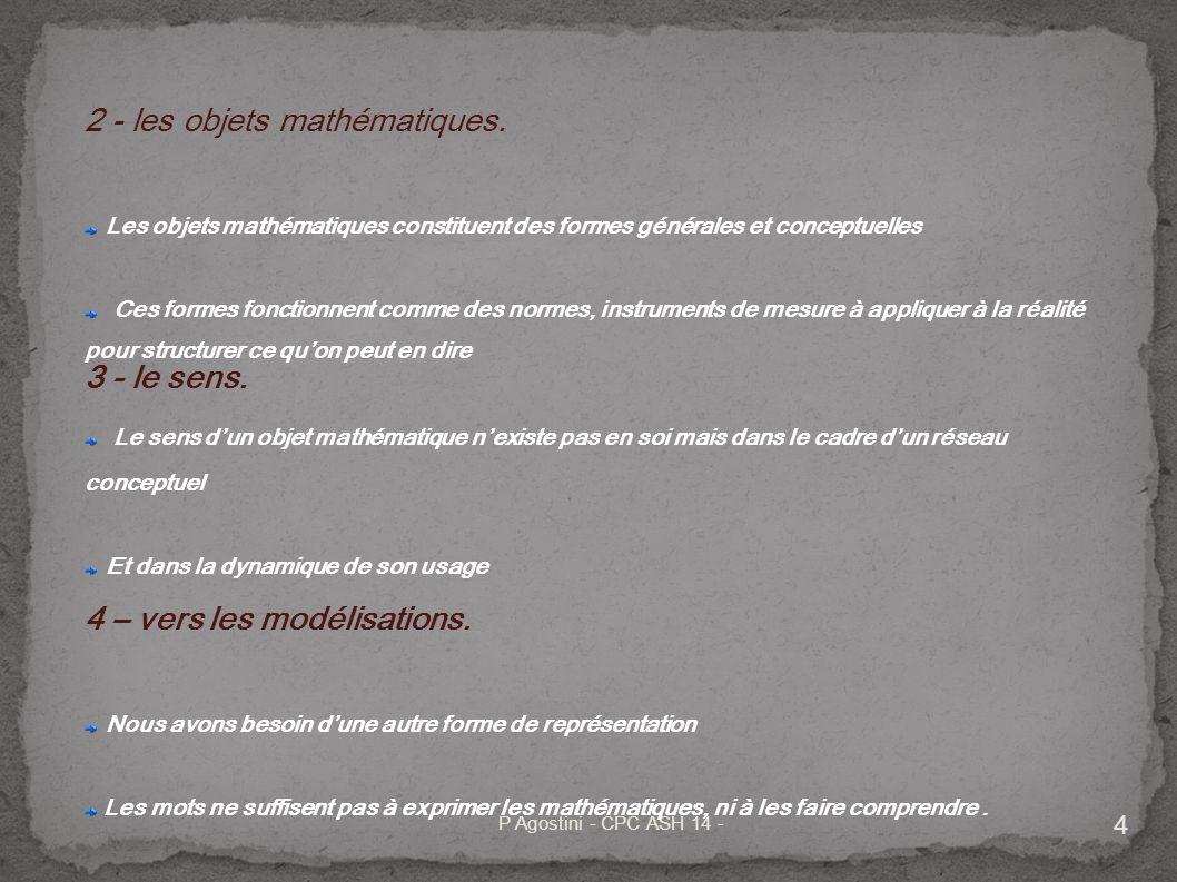P Agostini - CPC ASH 14 - 5 Une éducation au problème.
