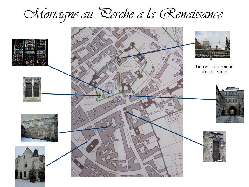 Mortagne au Perche à la Renaissance Lien vers un lexique darchitecture