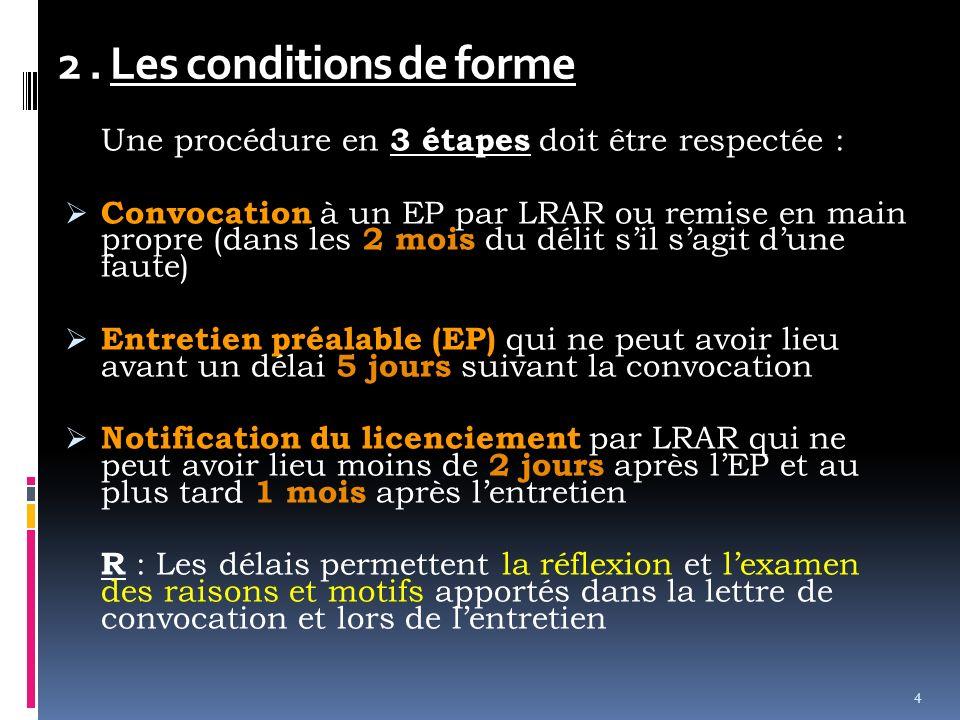 C.Les obligations de lemployeur 1.