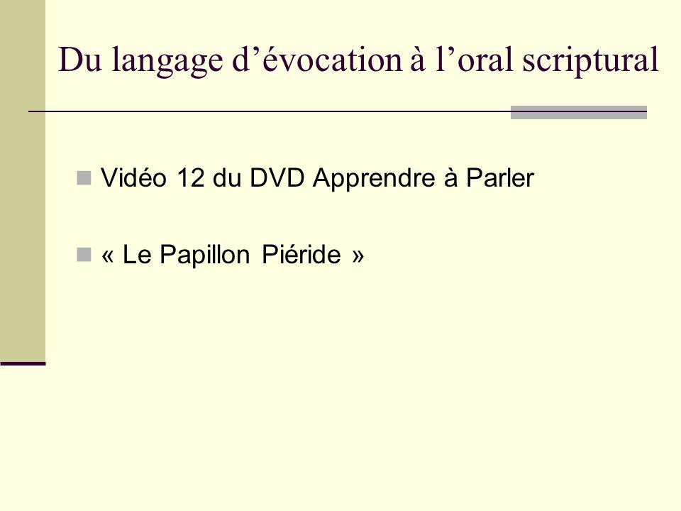 Du langage dévocation à loral scriptural Vidéo 12 du DVD Apprendre à Parler « Le Papillon Piéride »