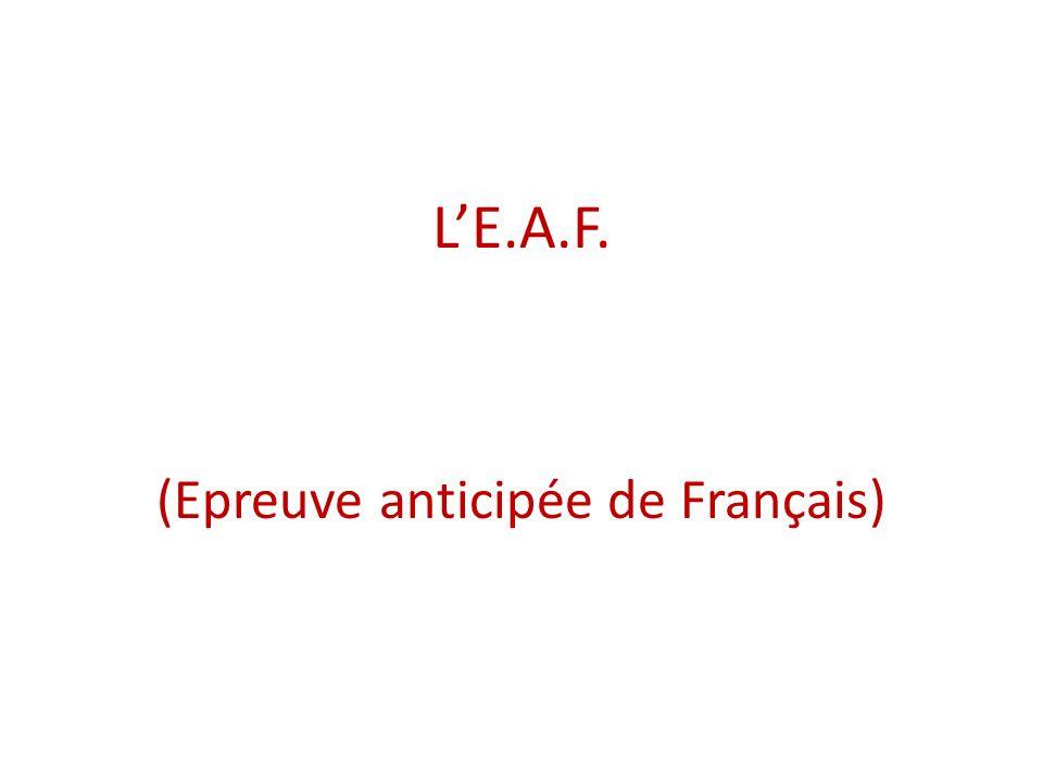 LE.A.F. (Epreuve anticipée de Français)