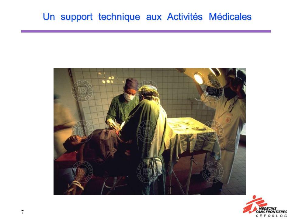 7 Un support technique aux Activités Médicales