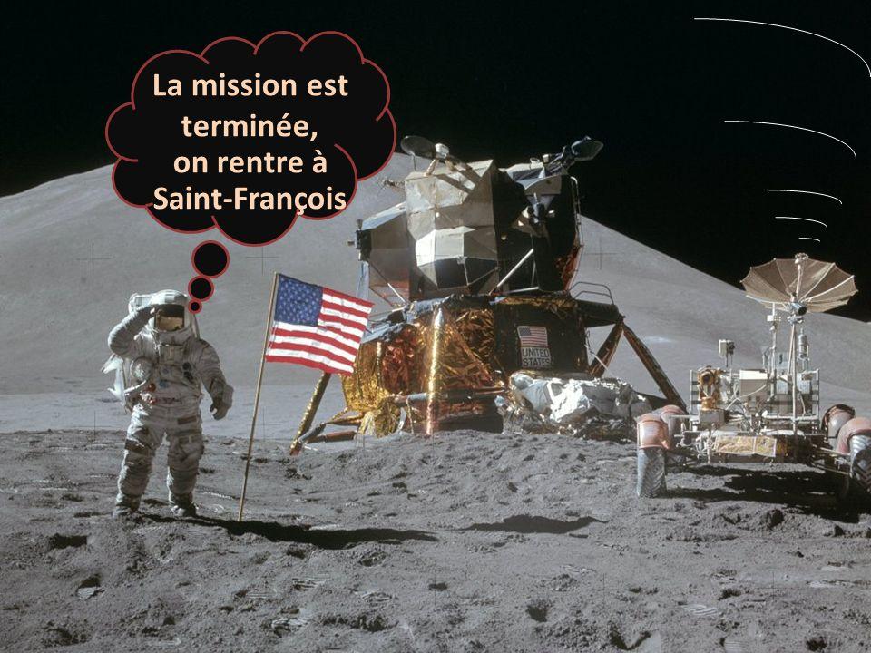 La mission est terminée, on rentre à Saint-François