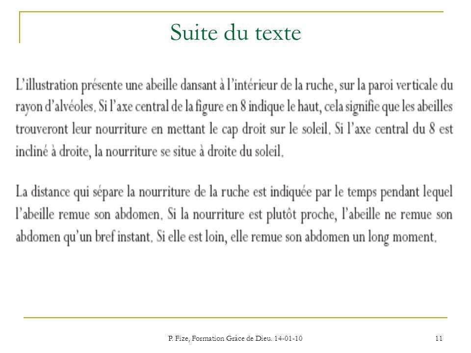 P. Fize, Formation Grâce de Dieu. 14-01-10 11 Suite du texte