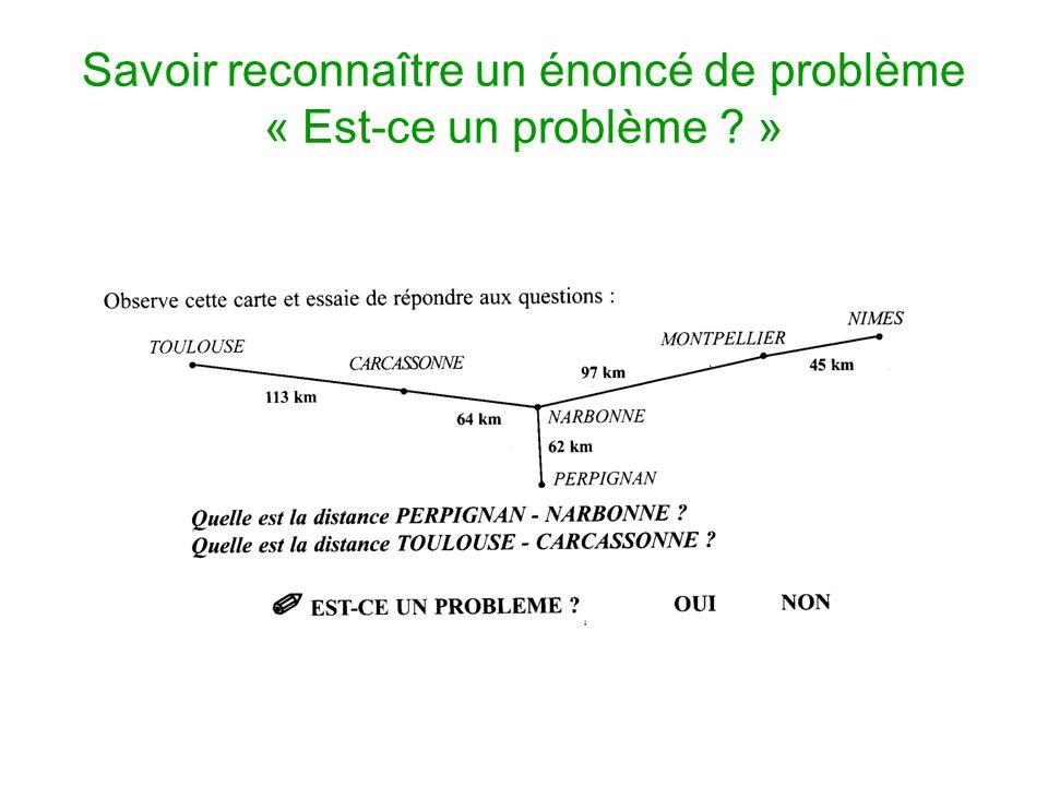Savoir reconnaître un énoncé de problème « Est-ce un problème ? »