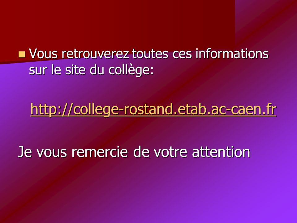 Vous retrouverez toutes ces informations sur le site du collège: h h tttt tttt pppp :::: //// //// cccc oooo llll llll eeee gggg eeee ---- rrrr oooo ssss tttt aaaa nnnn dddd....