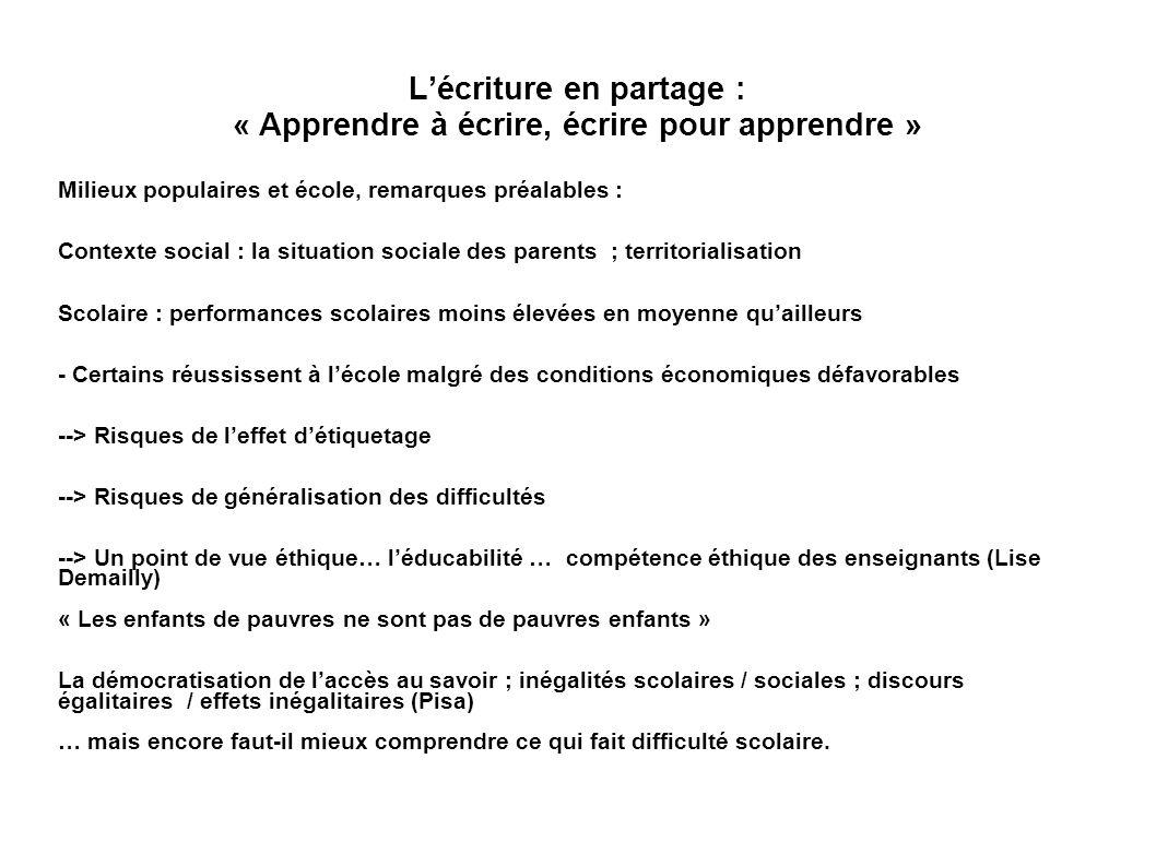 IV.Des pistes pédagogiques et didactiques cycle 3, collège Français production décrit : -1.