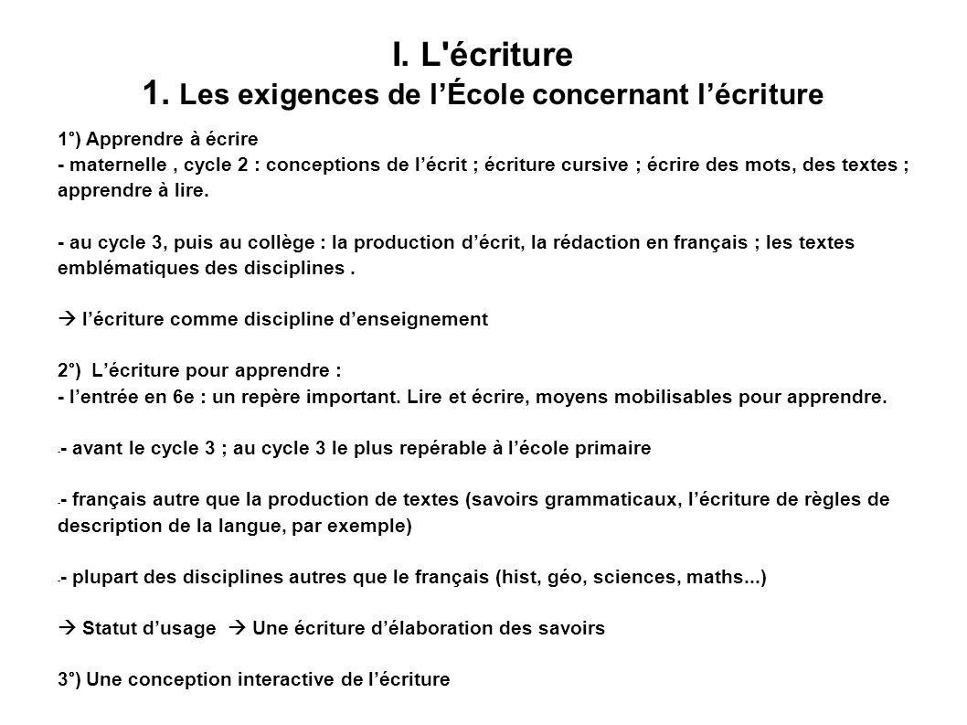 IV.Des pistes pédagogiques et didactiques cycle 3, collège Autres disciplines - 1.