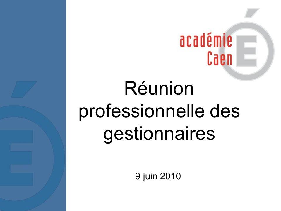 1 Réunion professionnelle des gestionnaires 9 juin 2010