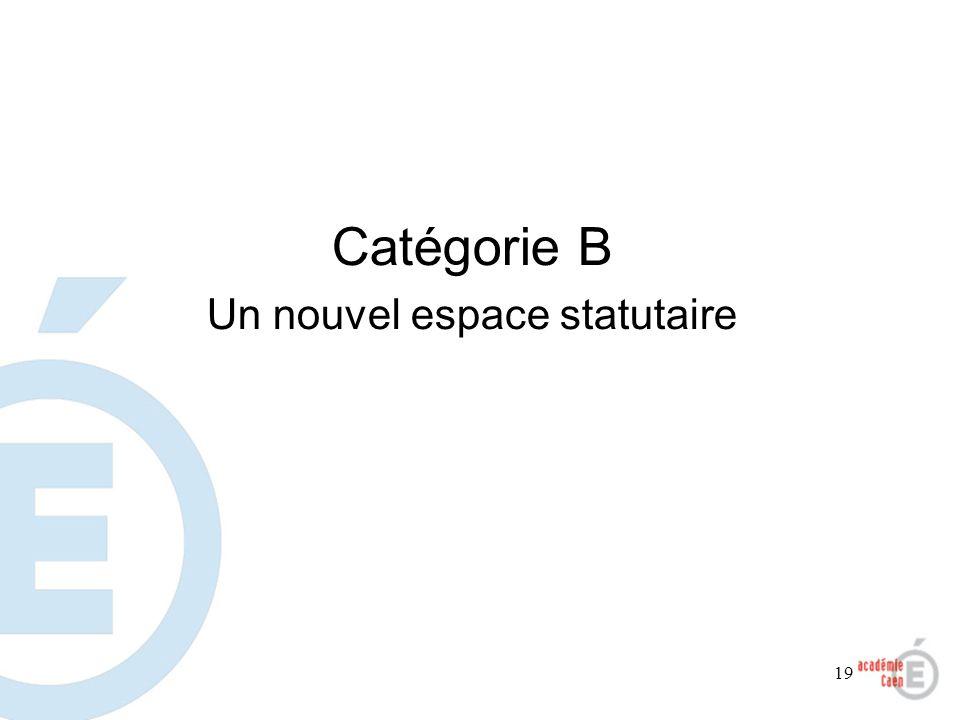 19 Catégorie B Un nouvel espace statutaire