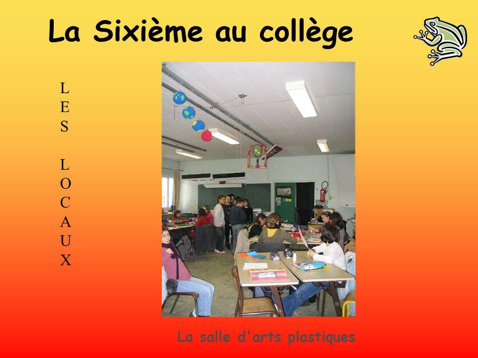 LES LOCAUXLES LOCAUX La salle d'arts plastiques La Sixième au collège