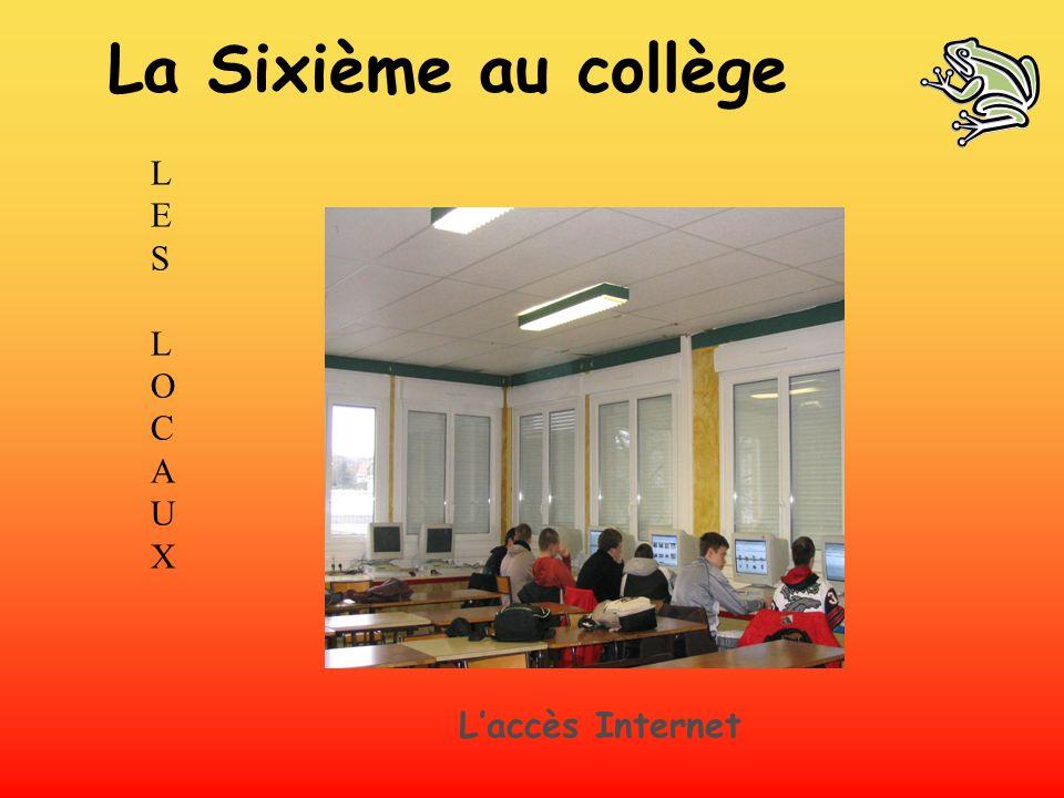 LES LOCAUXLES LOCAUX Laccès Internet La Sixième au collège
