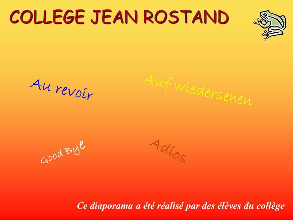 Au revoir Good By e Auf wiedersehen Adios Ce diaporama a été réalisé par des élèves du collège