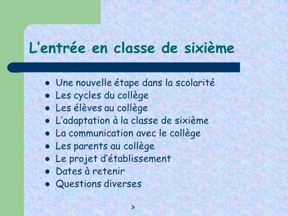 Classes attribuées pour les rencontres avec les professeurs Classe Professeur principal Salle Sixième 3 M.