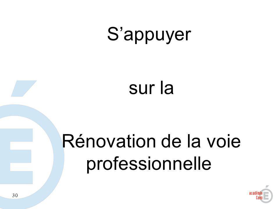 30 Sappuyer sur la Rénovation de la voie professionnelle