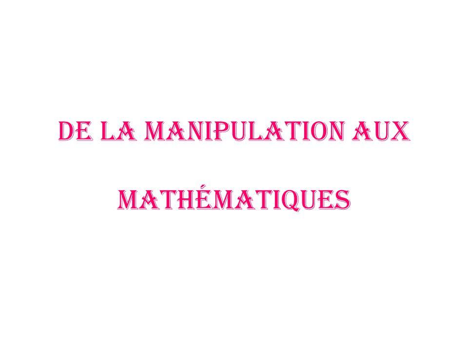 De la manipulation aux mathématiques