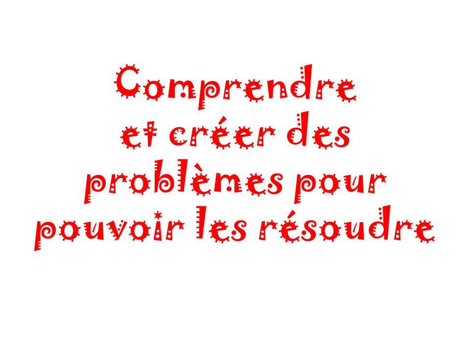 Comprendre et créer des problèmes pour pouvoir les résoudre