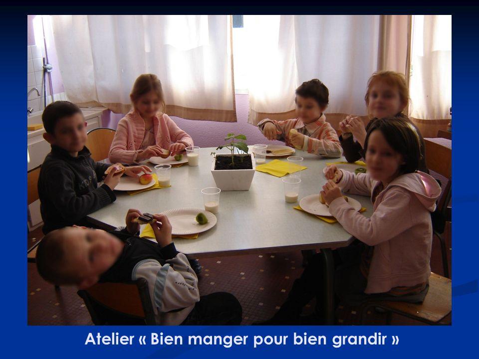 Atelier « Bien manger pour bien grandir »