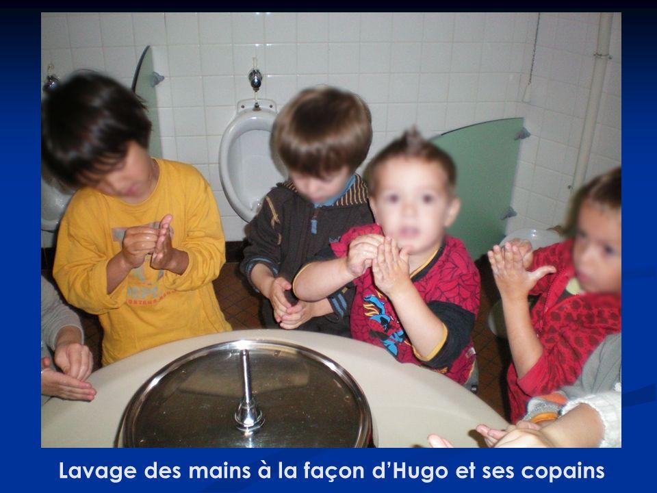 Lavage des mains à la façon dHugo et ses copains