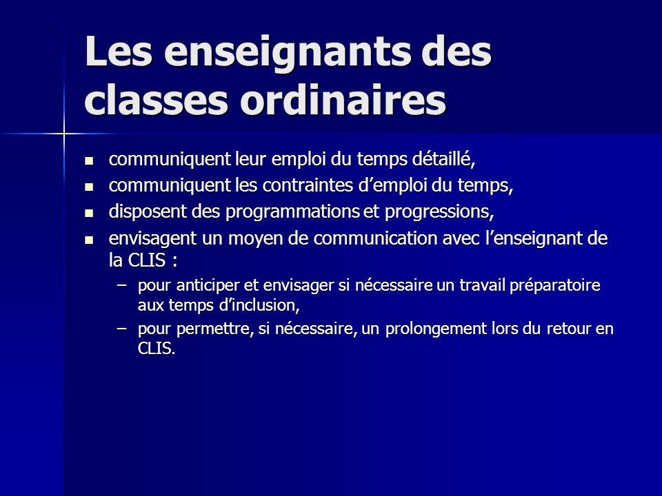 Quelques étapes nécessaires Envisager les inclusions possibles sur 3 niveaux : Envisager les inclusions possibles sur 3 niveaux : –Français et maths, –Découverte du monde, –EPS, musique, arts visuels….