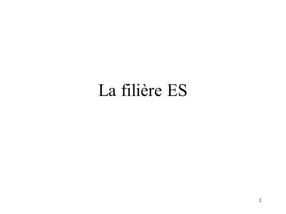 La filière ES 1