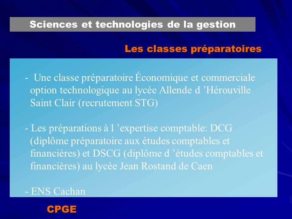 Les classes préparatoires - Une classe préparatoire Économique et commerciale option technologique au lycée Allende d Hérouville Saint Clair (recrutem
