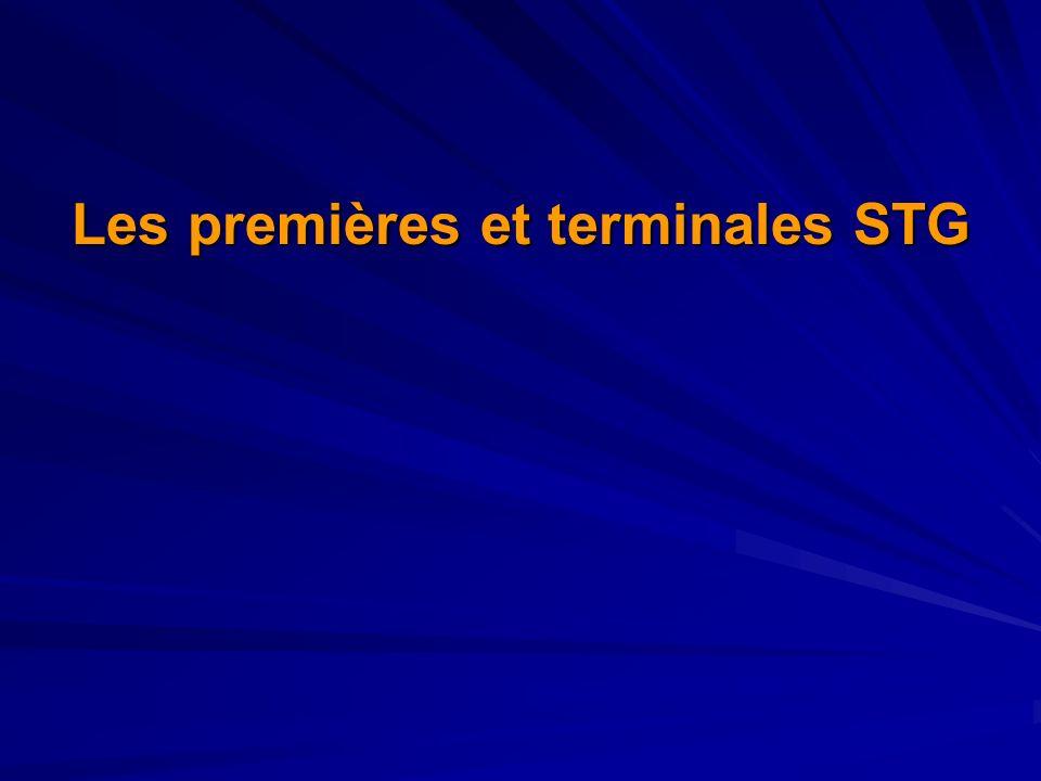 Les premières et terminales STG