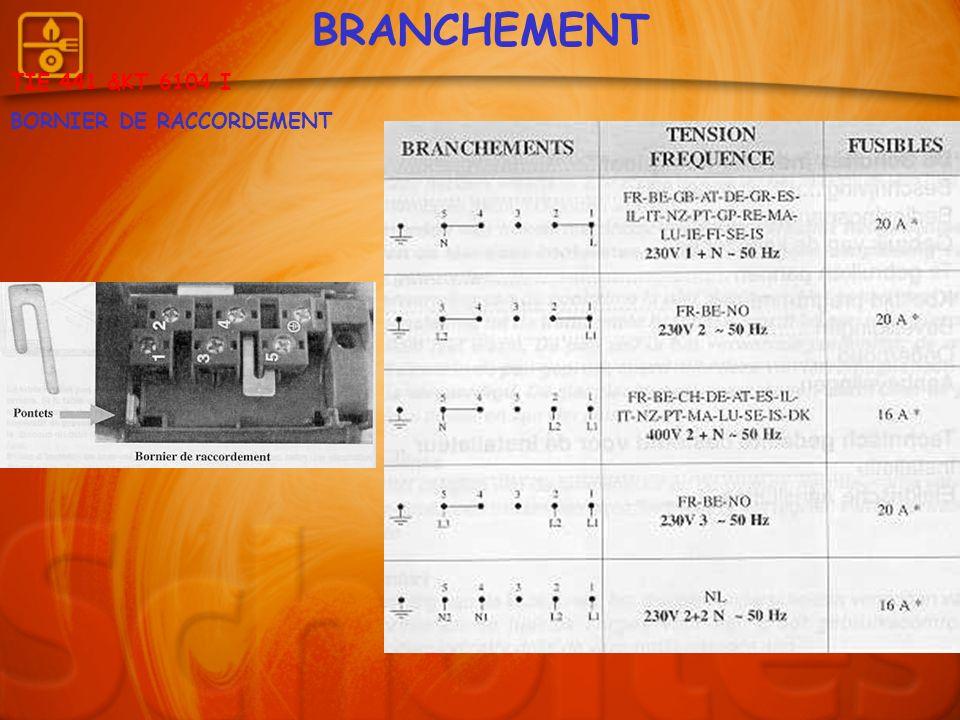BRANCHEMENT TIE 441 &KT 6104 I BORNIER DE RACCORDEMENT