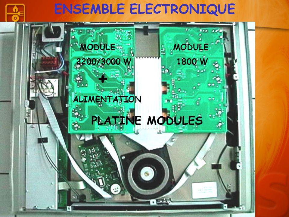ENSEMBLE ELECTRONIQUE MODULE MODULE 2200/3000 W 1800 W + ALIMENTATION PLATINE MODULES