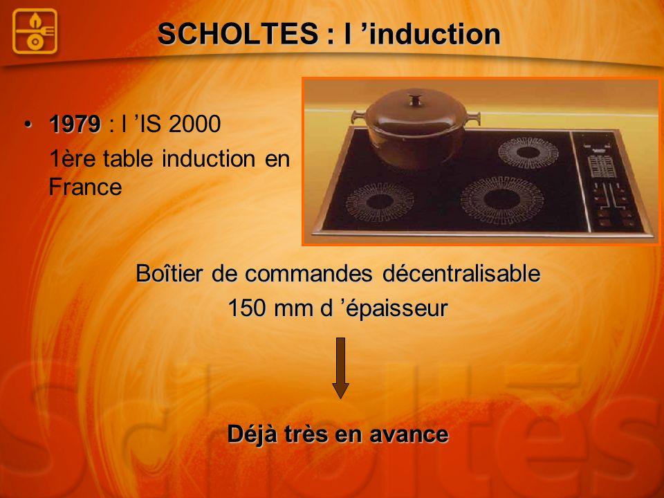 Des foyers de tailles et de formes variées SCHOLTES Induction La réussite culinaire Concentrique Poissonnière Circulaire Diamètres : 120 / 145 / 180 / 230 mm Elle va révolutionner la cuisson induction