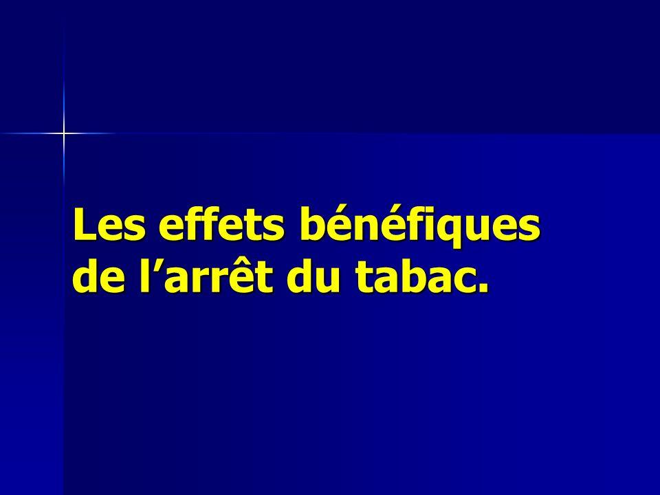 Les effets bénéfiques de larrêt du tabac.