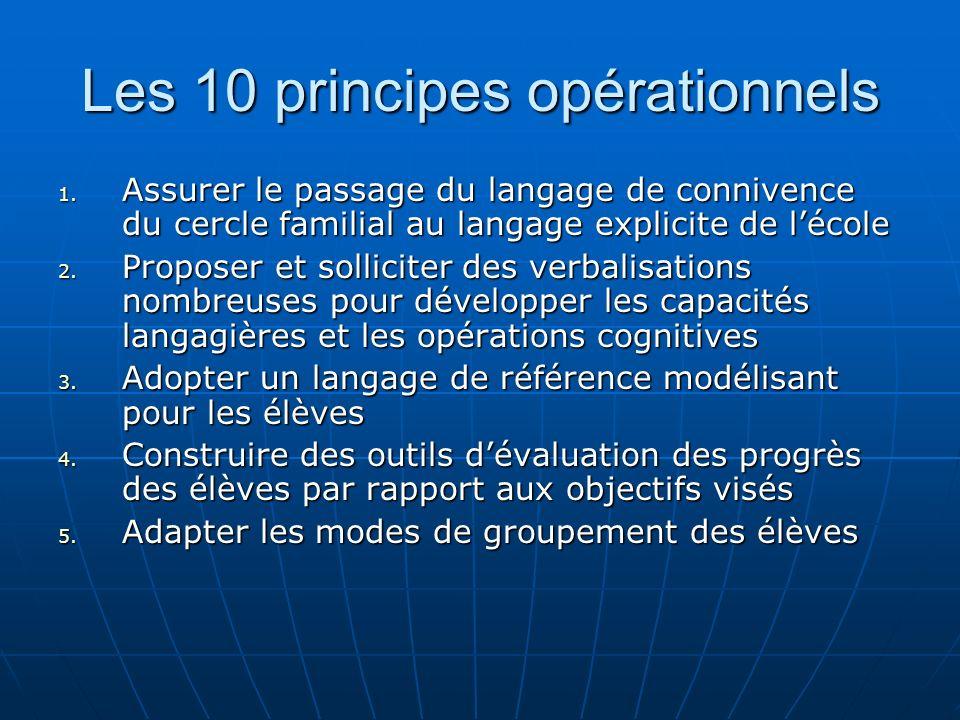 Les 10 principes opérationnels 6.