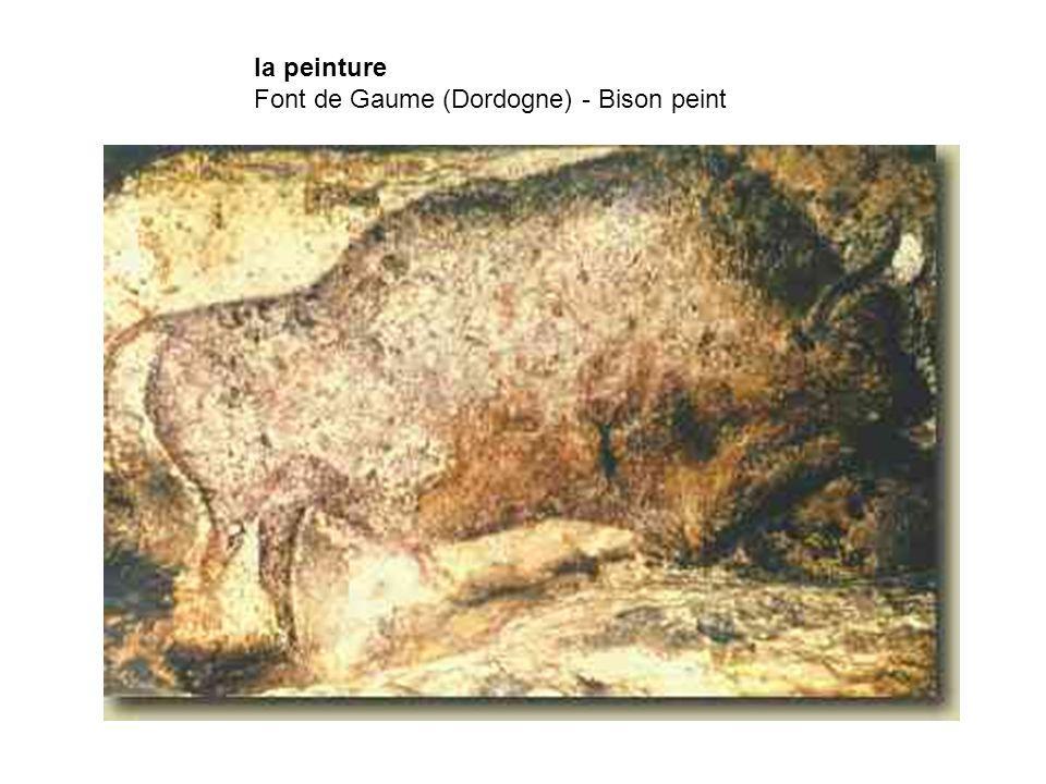 la peinture Font de Gaume (Dordogne) - Bison peint