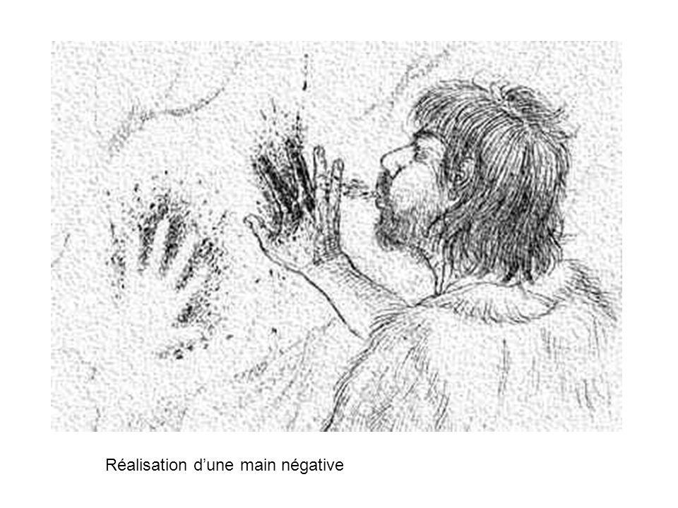Réalisation dune main négative