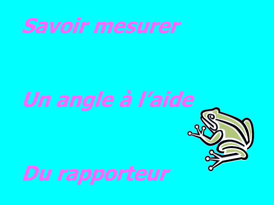 Savoir mesurer Un angle à laide Du rapporteur