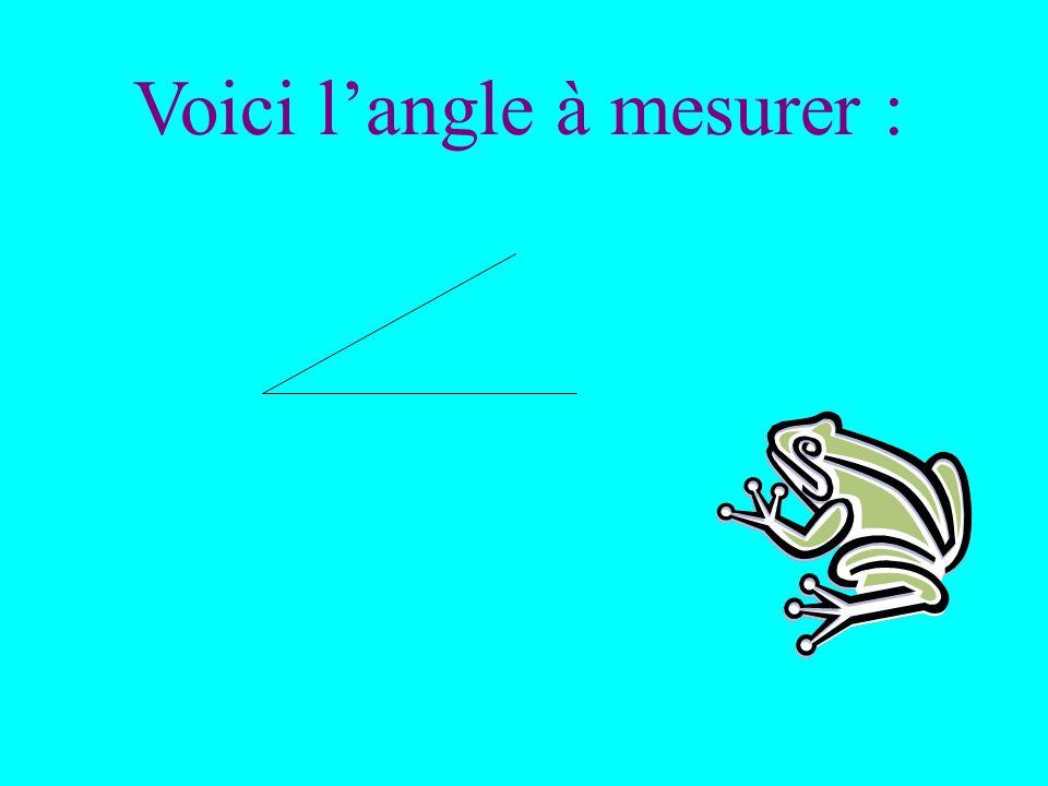 Voici langle à mesurer :